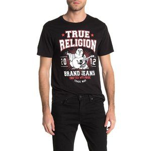 True Religion Men's Buddha Logo Front Tee T-Shirt